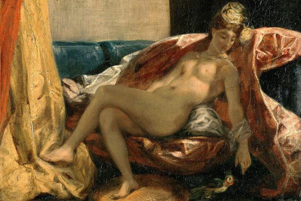 « Femme caressant un perroquet » (1827), Eugène Delacroix (3).