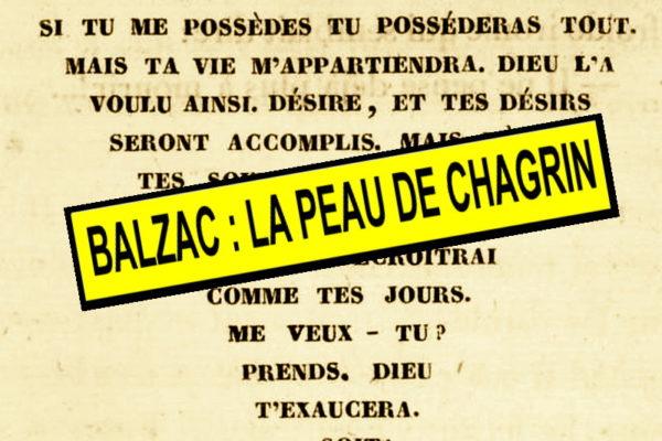 «La peau de chagrin» : retour sur le roman de Honoré de Balzac…