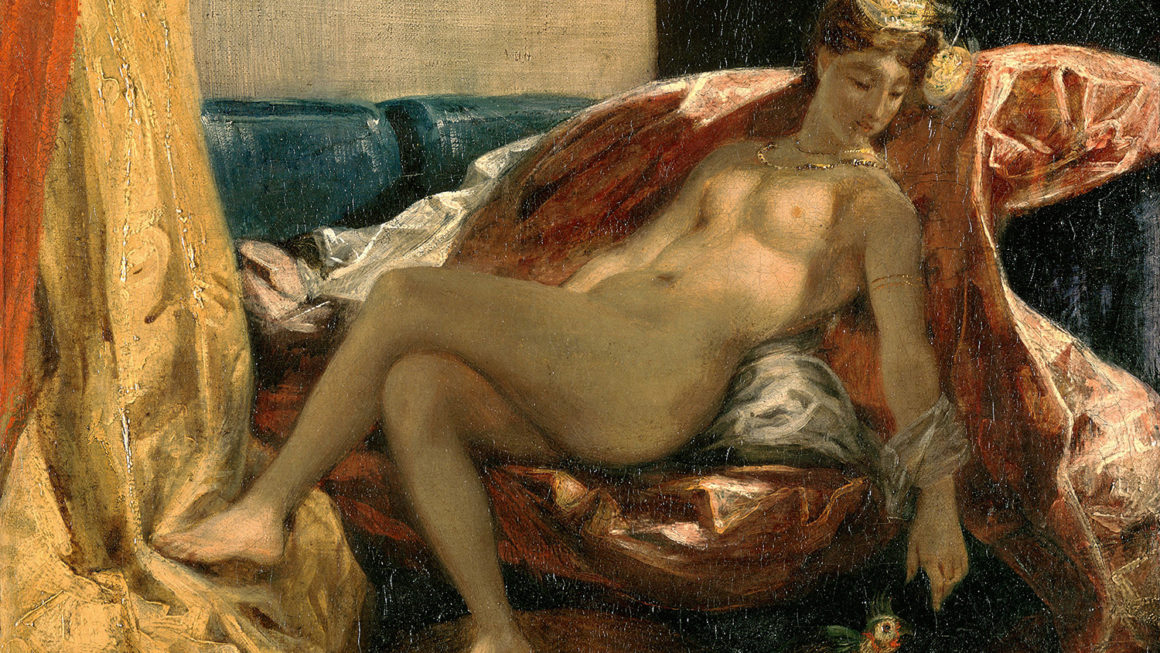 « Femme caressant un perroquet » (1827), Eugène Delacroix (2).