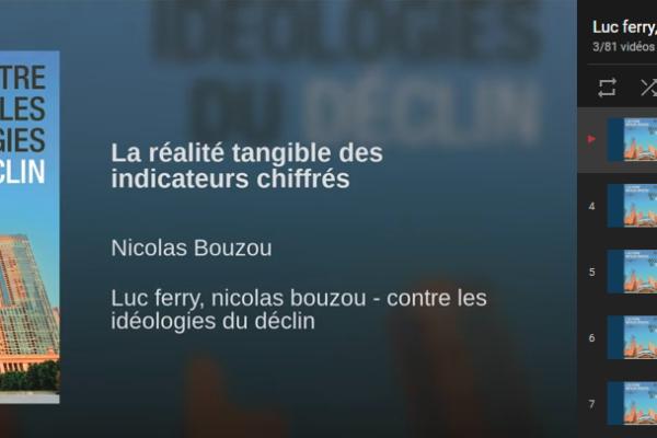 Conférence audio à suivre : Luc Ferry, Nicolas Bouzou – Contre les idéologies du déclin…